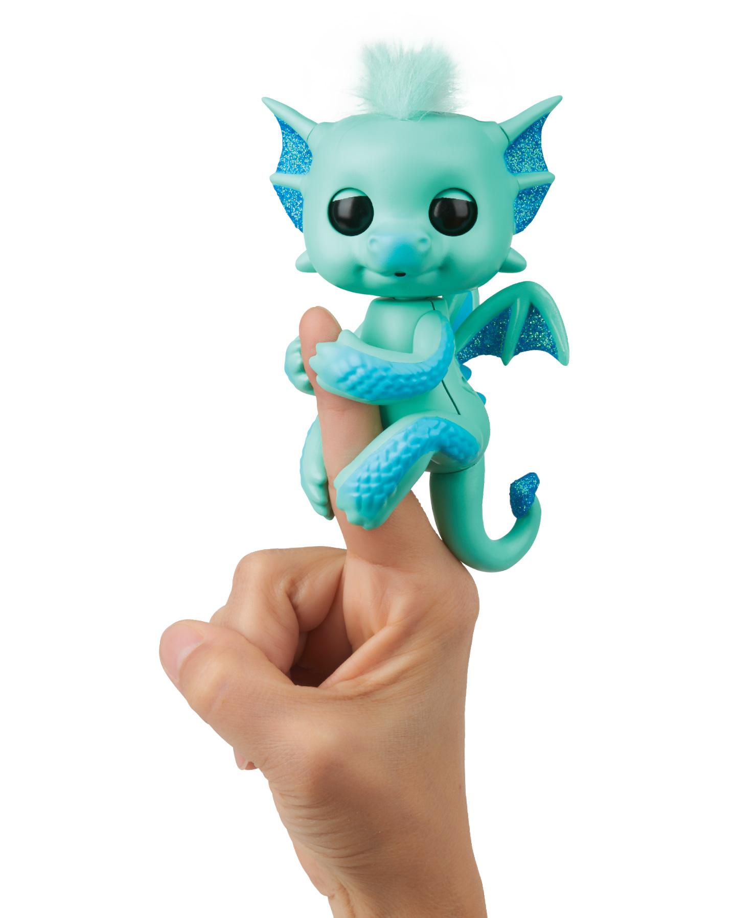 Купить Интерактивный дракон Fingerlings - Ноа, 12 см, WowWee
