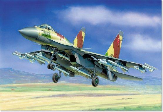 Модель для склеивания - Самолёт Су-35Модели самолетов для склеивания<br>Модель для склеивания - Самолёт Су-35<br>