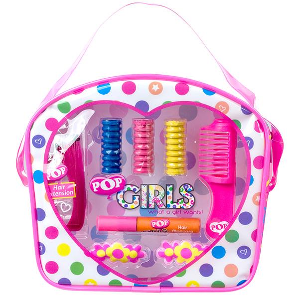 Набор детской декоративной косметики для волос из серии PopЮная модница, салон красоты<br>Набор детской декоративной косметики для волос из серии Pop<br>