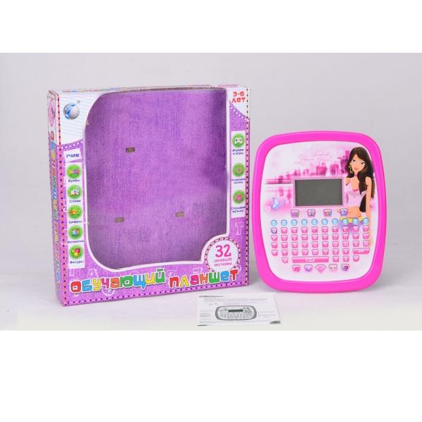 Обучающий русифицированный озвученный планшет с жк экраном - Детский обучающий компьютер, артикул: 159800
