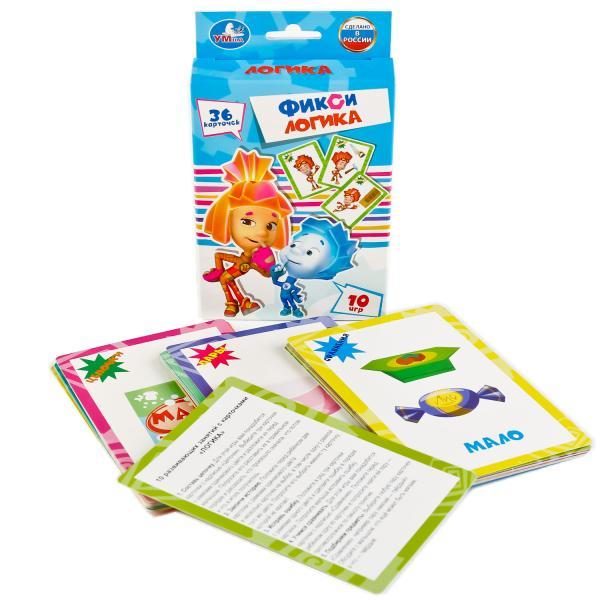 Купить со скидкой Карточки развивающие Фиксики - Логика, 36 карточек