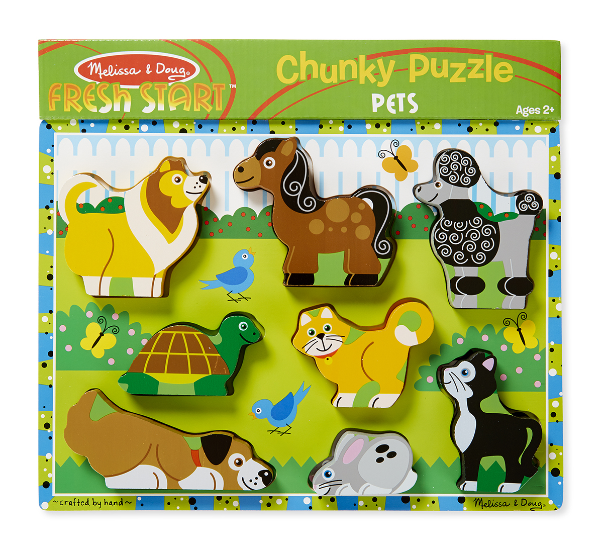 Мои первые пазлы - Домашние животные, 8 объемных элементовПазлы для малышей<br>Мои первые пазлы - Домашние животные, 8 объемных элементов<br>