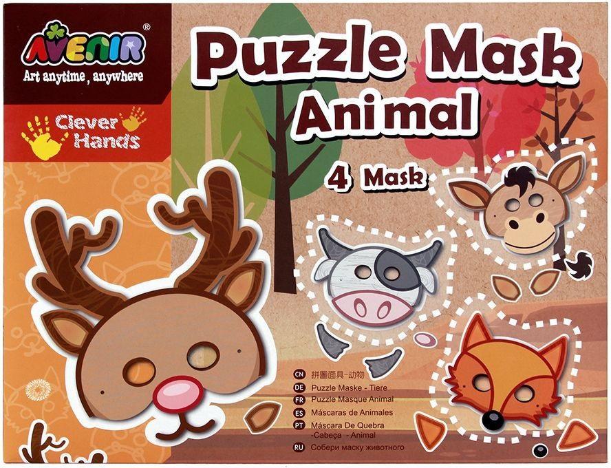 Набор-пазл для создания масок – ЖивотныеРазные поделки из бумаги<br>Набор-пазл для создания масок – Животные<br>