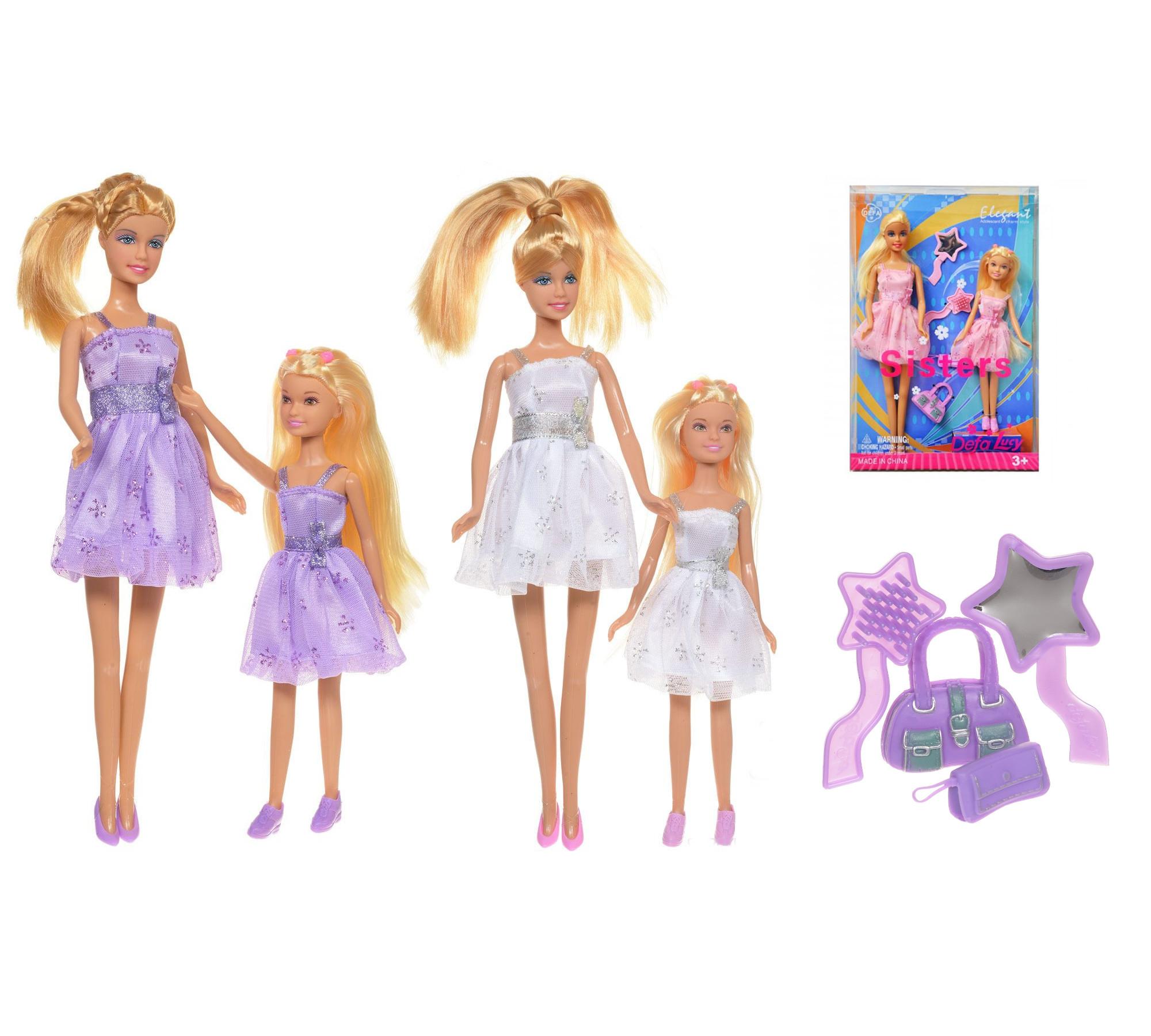 Набор из 2-х кукол - Сестрички, с аксессуарамиКуклы Defa Lucy<br>Набор из 2-х кукол - Сестрички, с аксессуарами<br>
