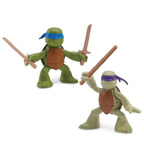 Набор фигурок  Лео и Донни - юные мутантыЧерепашки Ниндзя<br>Набор фигурок  Лео и Донни - юные мутанты<br>