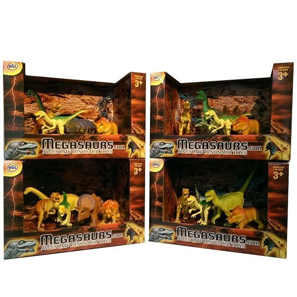 Игровой набор из 5 фигурок динозавров и дереваЖизнь динозавров (Prehistoric)<br>Игровой набор из 5 фигурок динозавров и дерева<br>