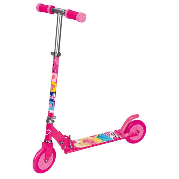 Самокат 2-колесный «Барби» складной, с яркими наклейкамиДвухколесные самокаты<br>Самокат 2-колесный «Барби» складной, с яркими наклейками<br>