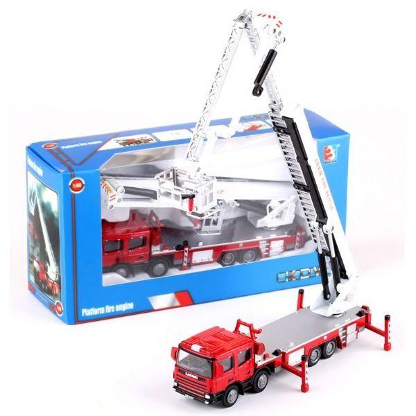 Машина пожарная металлическая, 1:50 - Пожарные машины, автобусы, вертолеты и др. техника, артикул: 169802