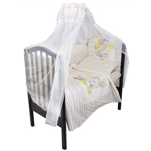 Комплект в кроватку – Радужный, 7 предметов, бежевыйДетское постельное белье<br>Комплект в кроватку – Радужный, 7 предметов, бежевый<br>