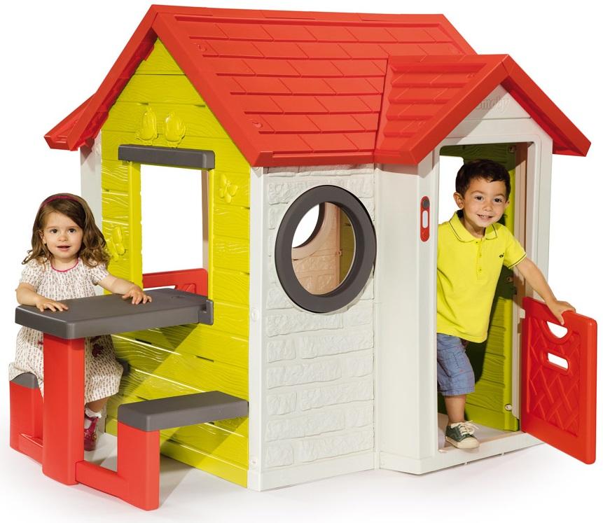 Игровой детский домик со столомПластиковые домики для дачи<br>Игровой детский домик со столом<br>