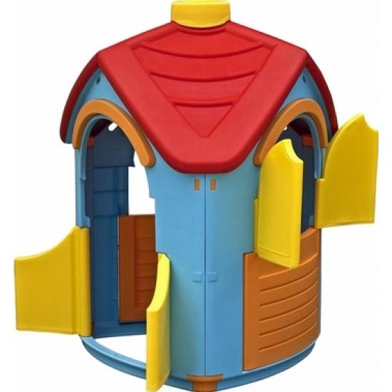 Дом игровой Вилла с открывающимися окошками и дверьюПластиковые домики для дачи<br>Дом игровой Вилла с открывающимися окошками и дверью<br>