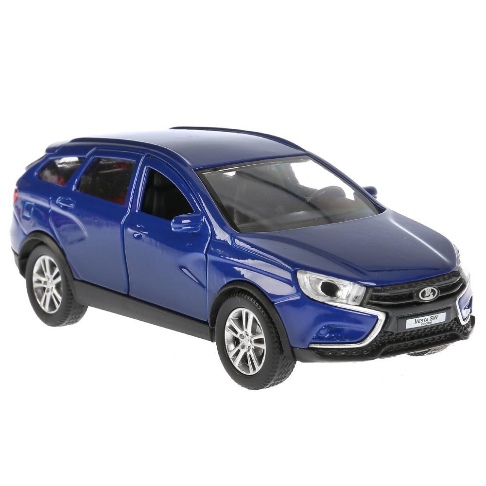 Купить Модель Lada Vesta SW Cross, синяя, 12 см, открываются двери, инерционная, Технопарк