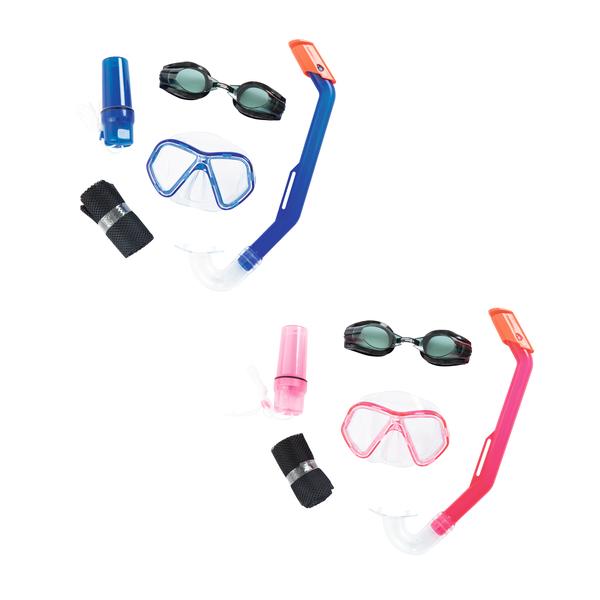 Купить Набор для ныряния – Барракуда, маска, очки, трубка, от 3 лет, 2 цвета, Bestway