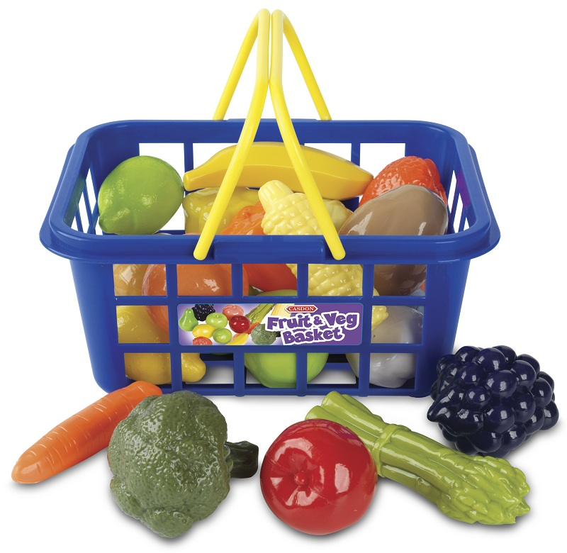 Игровой набор – Корзина с овощами и фруктамиАксессуары и техника для детской кухни<br>Игровой набор – Корзина с овощами и фруктами<br>