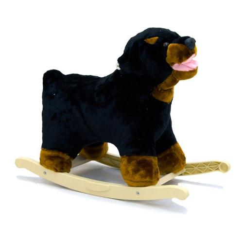 Меховая качалка. Собака-Ротвейлер - Детские кресла-качалки, артикул: 158025