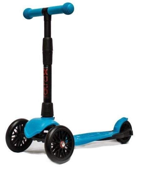 Купить Самокат 3-колесный Alfa Model Buggy Boom со светящимися колесами, цвет голубой, Buggy Boom Alfa model