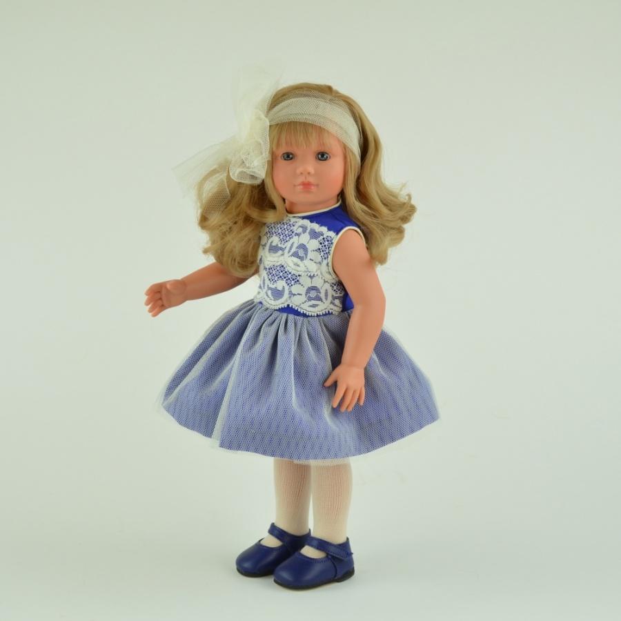 Кукла Нелли с шифоновым бантиком, 43 см.Куклы ASI (Испания)<br>Кукла Нелли с шифоновым бантиком, 43 см.<br>