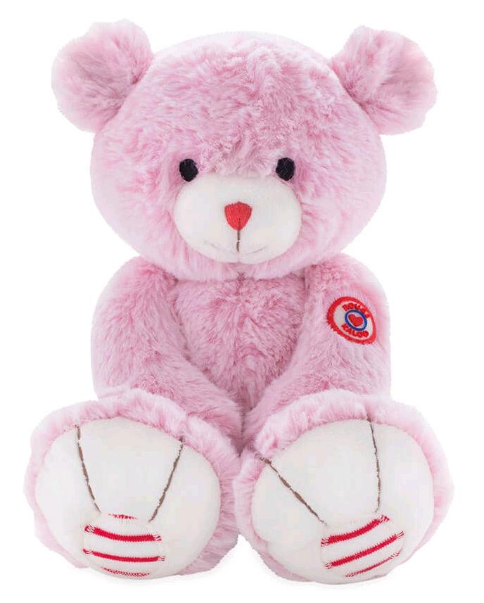 Купить Мягкая игрушка Руж – Мишка. Розовый, 19 см, Kaloo