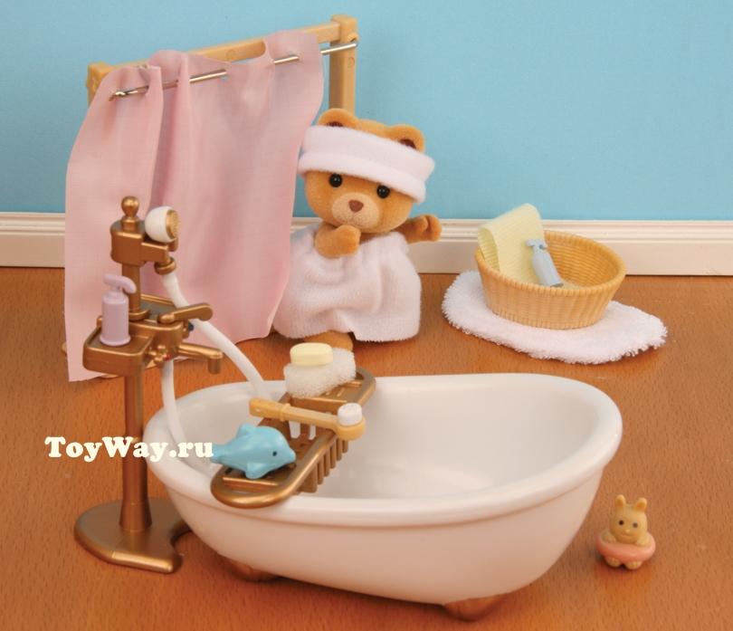 Набор «Ванная комната, мини» - Игрушки Sylvanian Families, артикул: 97535