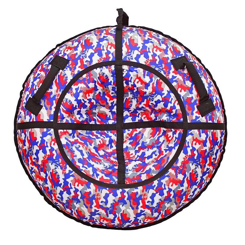 Санки надувные тюбинг дизайн - Камуфляж сине-красный, диаметр 105 см.Ватрушки и ледянки<br>Санки надувные тюбинг дизайн - Камуфляж сине-красный, диаметр 105 см.<br>