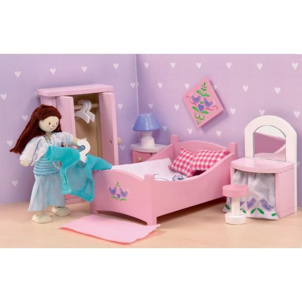 Кукольная мебель деревянная «Сахарная слива – Спальня»Кукольные домики<br>Кукольная мебель деревянная «Сахарная слива – Спальня»<br>