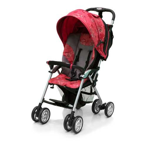 Коляска прогулочная Elegant, Black/Red FloverДетские коляски Capella Jetem, Baby Care<br>Коляска прогулочная Elegant, Black/Red Flover<br>