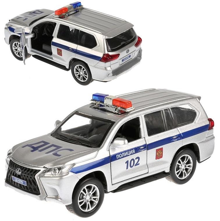 Купить Инерционная металлическая машина Lexus LX-570 - Полиция, длина 12 см, Технопарк