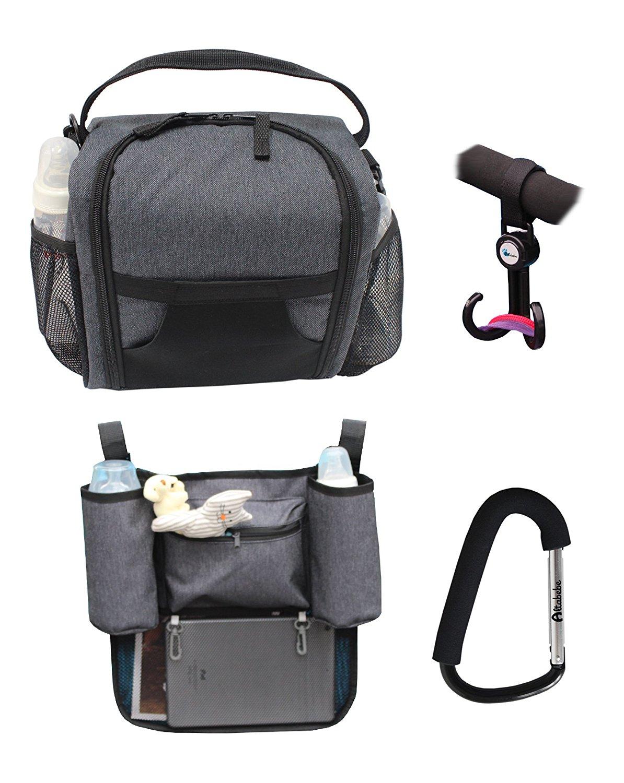 Набор походный для пикника: крючок для коляски, ланч-бокс, органайзер для коляски и многофункциональный крючок вешалка, Altabebe  - купить со скидкой