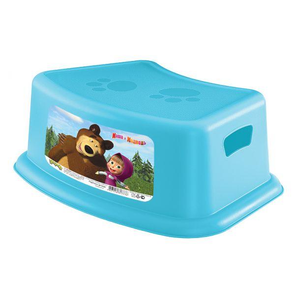 Подставка детская - Маша и Медведь, цвет голубой