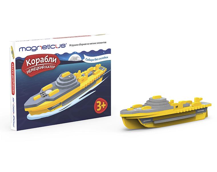картинка Модель сборная из мягких элементов - Корабли - Немецкий катер от магазина Bebikam.ru