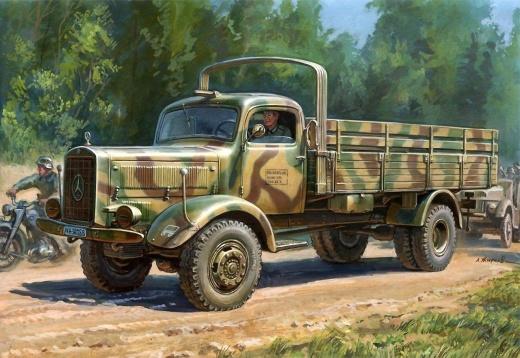 Модель для склеивания  Немецкий тяжёлый грузовик времён Второй Мировой войны L Звезда, 4500A - Модели для склеивания, артикул: 98519
