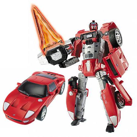 Робот-трансформер Ford Gt, свет, 1:32