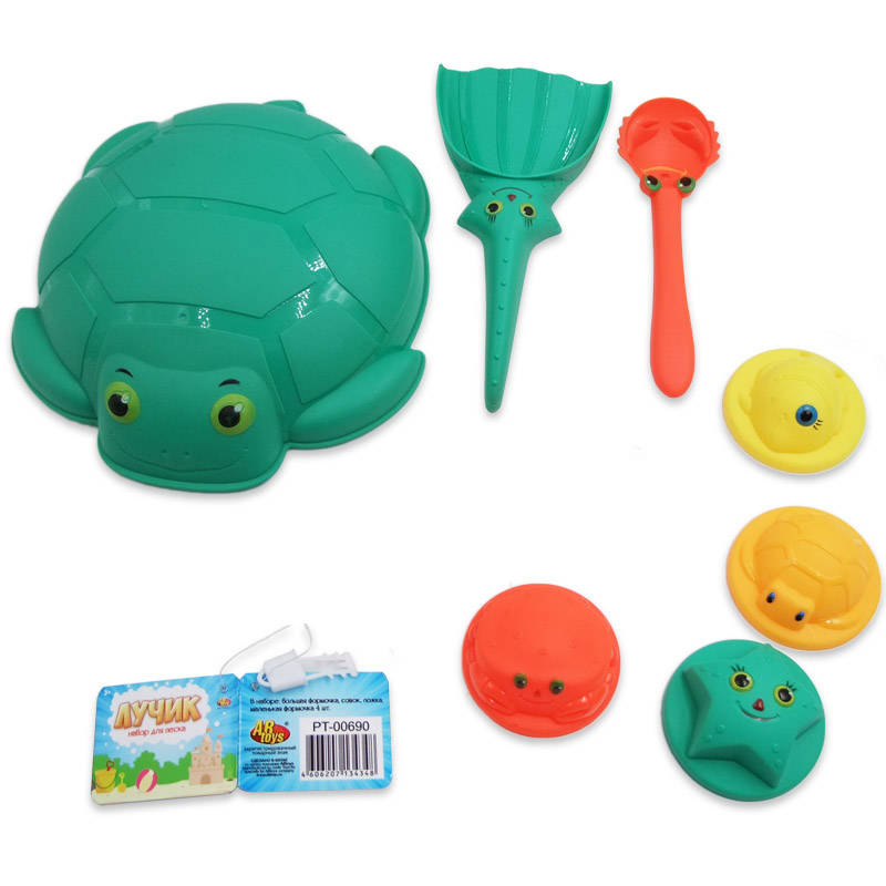 Купить Набор для игр с песком Морской с черепашкой из серии Лучик, 7 предметов, ABtoys