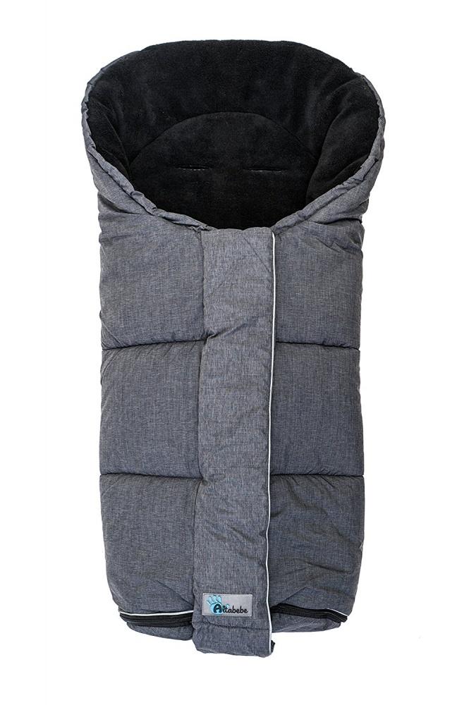 Зимний конверт AL2277P Altabebe Alpin Stroller, черно-серыйЗимние конверты<br>Зимний конверт AL2277P Altabebe Alpin Stroller, черно-серый<br>