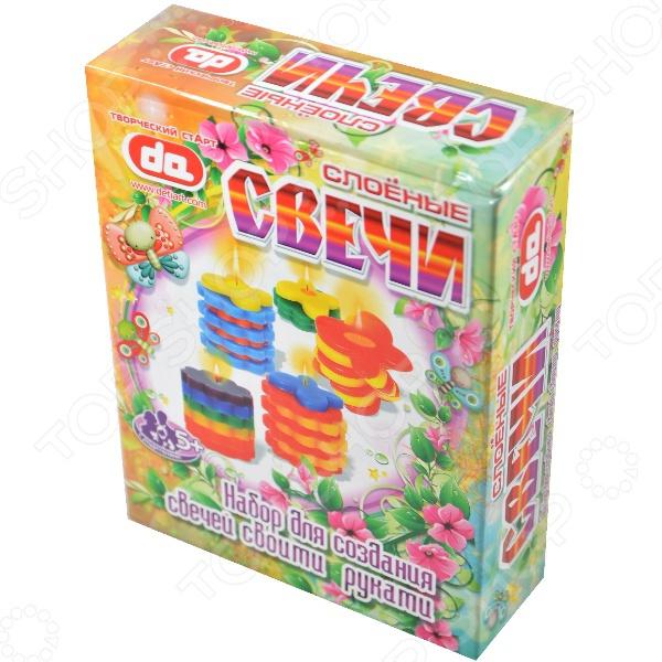 Набор для творчества - слоёные свечи Бабочки-цветочкиСоздание гелевых свечей<br>Набор для творчества - слоёные свечи Бабочки-цветочки<br>