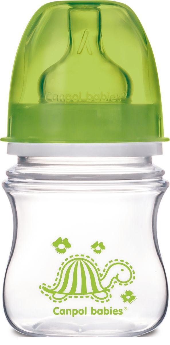 Купить Бутылочка Canpol Babies Colourful Animals 35/205, 120 мл. в наборе с соской, зеленая