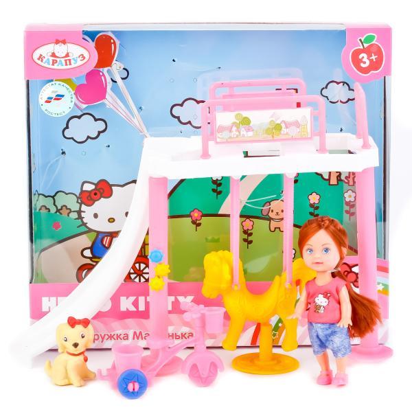 Купить Кукла Hello Kitty - Машенька 12 см, с игровой площадкой и аксессуарами, Карапуз