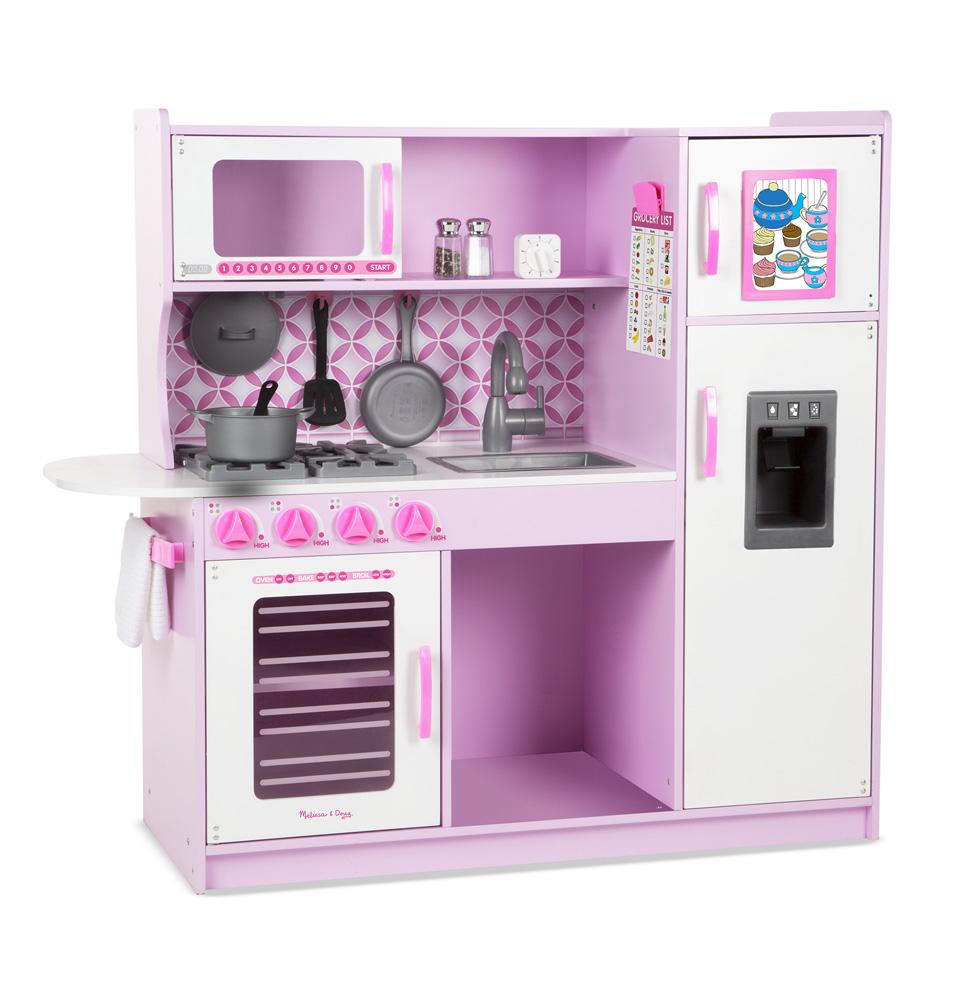 Деревянная кухня, розовая - Детские игровые кухни, артикул: 164301