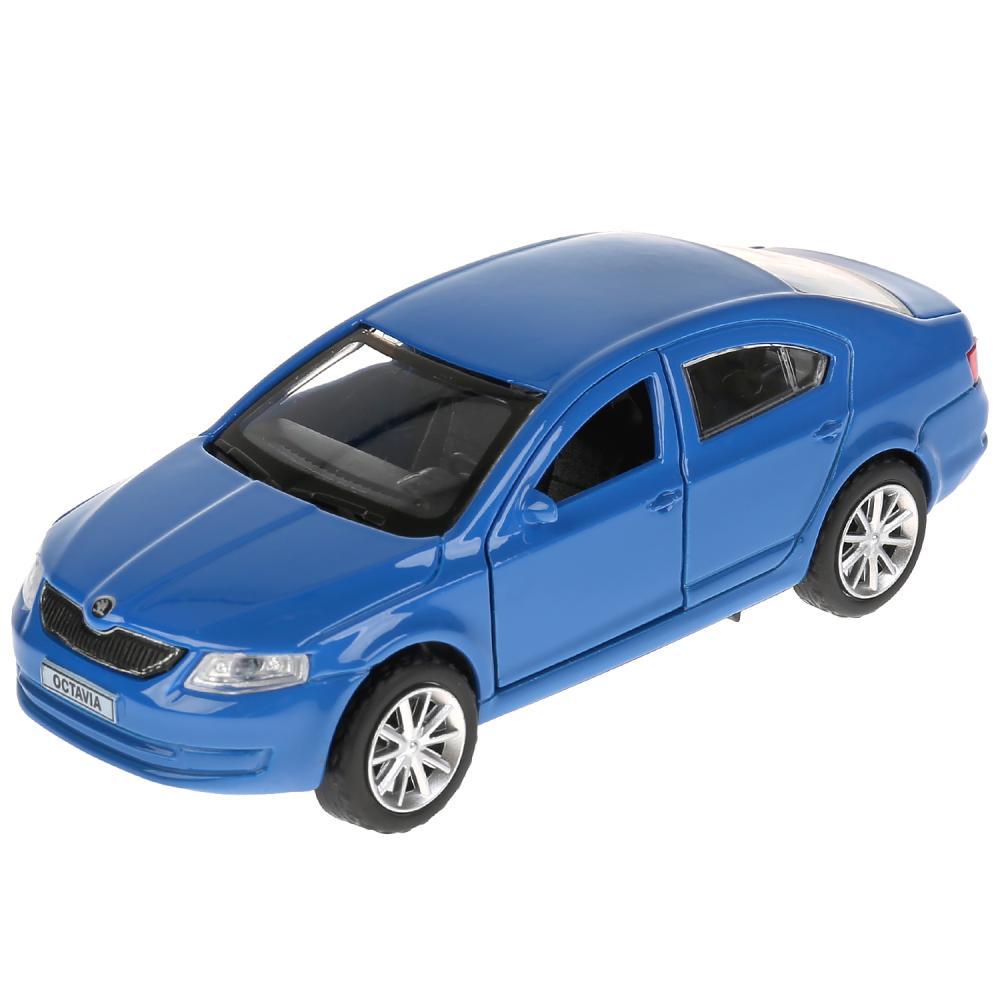 Купить Машина металлическая Skoda Octavia, длина 12 см., открываются двери, инерционный, синий, Технопарк