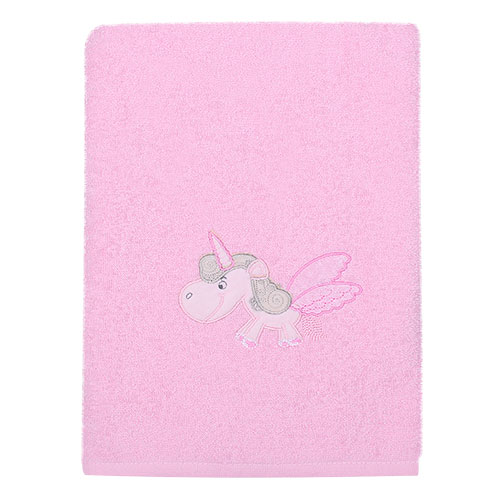 Полотенце – Пони,  100% хлопок, розовыйПолотенца и халаты<br>Полотенце – Пони,  100% хлопок, розовый<br>