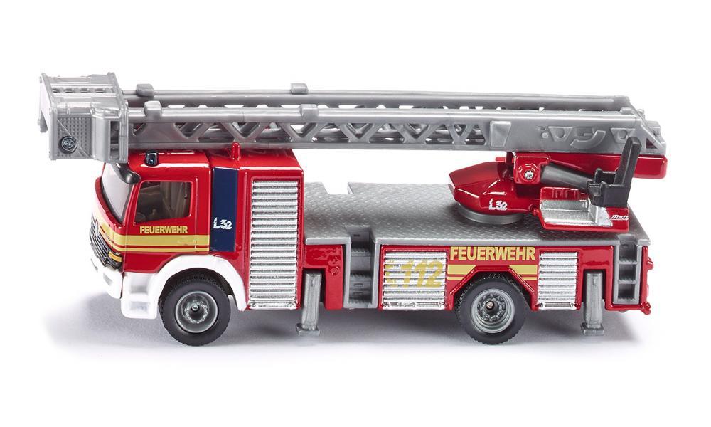 Игрушечная модель - Пожарная машина с лестницей, 1:87Пожарная техника, машины<br>Игрушечная модель - Пожарная машина с лестницей, 1:87<br>