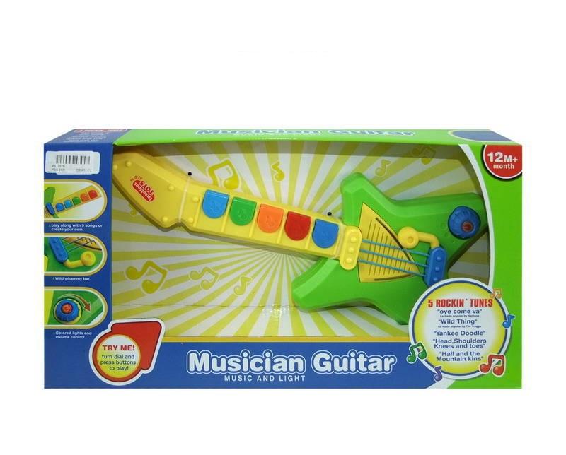Гитара для малышей, звуковые и световые эффектыГитары<br>Гитара для малышей, звуковые и световые эффекты<br>