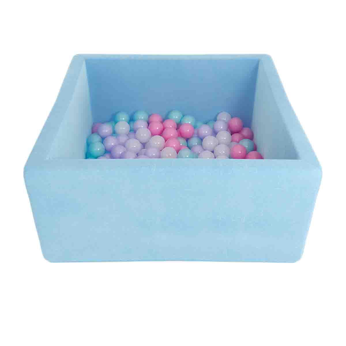 Купить Детский сухой бассейн Romana Airpool Box, голубой + 100 шаров, Romana (Романа)