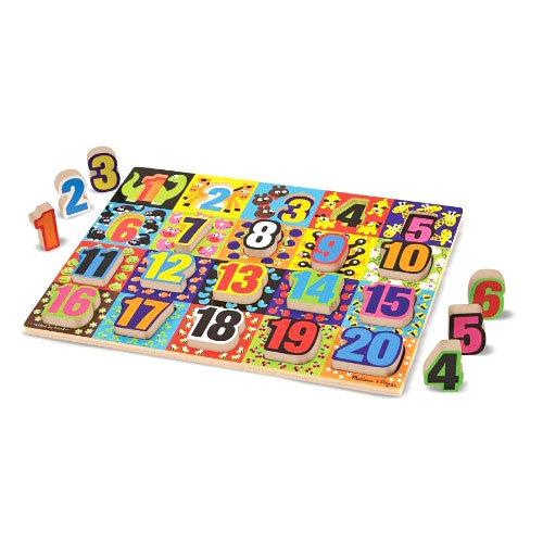 Купить Мои первые пазлы - Гигантские цифры, 20 объемных элементов, Melissa&Doug
