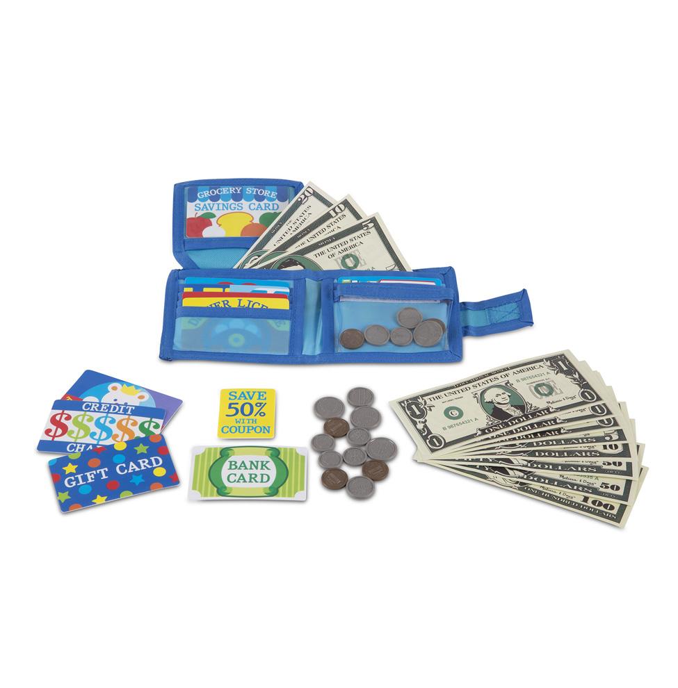 Игровой набор – Кошелек с монетами и карточкамиДетская игрушка Касса. Магазин. Супермаркет<br>Игровой набор – Кошелек с монетами и карточками<br>