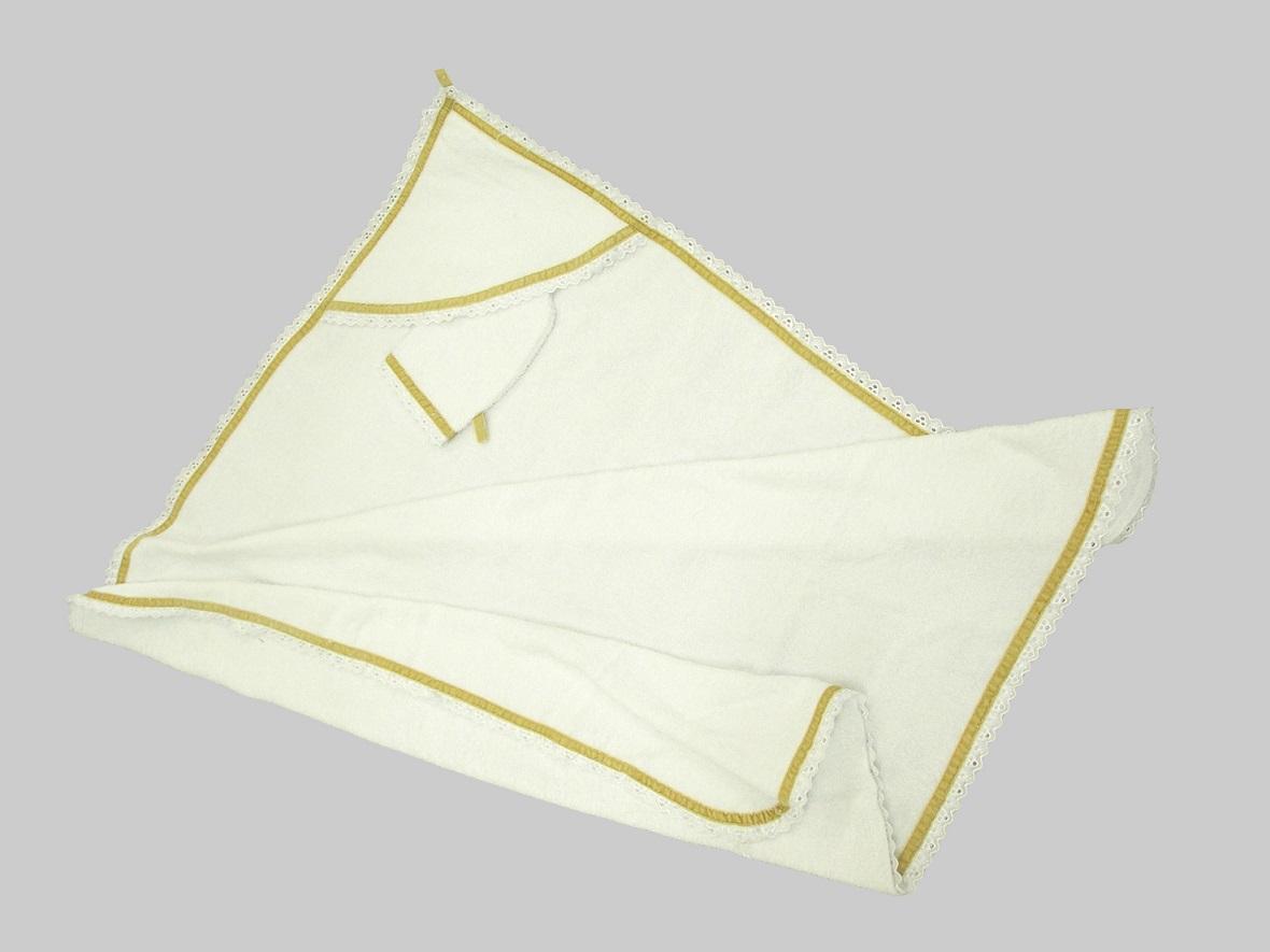 Пеленка-полотенце Премиум в комплекте с варежкой, размер 96 х 96 см., белая - Ванная комната и гигиена, артикул: 168754