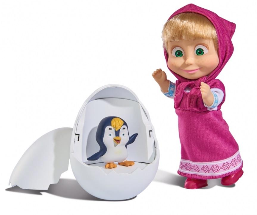 Кукла Маша с пингвиненком в яйце, 12 смПупсы<br>Кукла Маша с пингвиненком в яйце, 12 см<br>