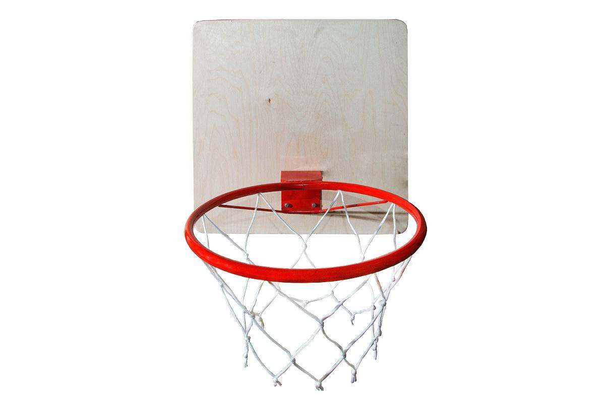 Купить Кольцо баскетбольное с сеткой, диаметр 295 мм., КМС
