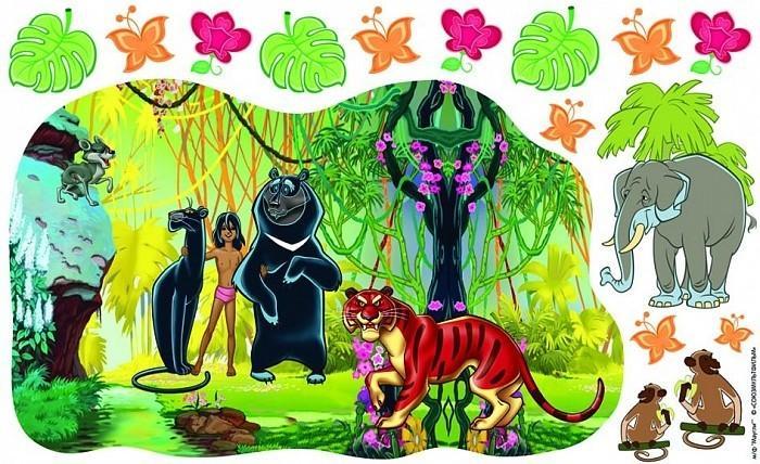 Купить Наклейка для стен из серии Маугли Союзмультфильм, два листа, Росмэн