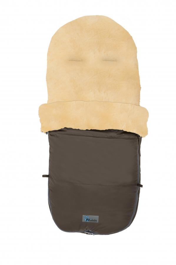 Зимний конверт Lambskin-Bugaboo Footmuff с овчиной, цвет – коричневыйЗимние конверты<br>Зимний конверт Lambskin-Bugaboo Footmuff с овчиной, цвет – коричневый<br>